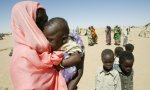 [Sudanese refugee women and children at Camp Tine, Chad]