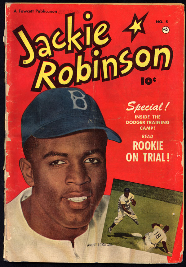[Front cover of Jackie Robinson comic book]
