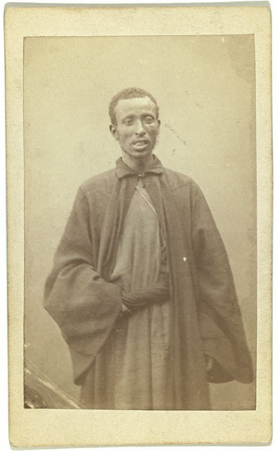 [Three quarter portrait of African man, facing front]