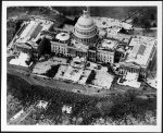 [Aerial view of U.S. Capitol and crowd on the grounds of the east front of the U.S. Capitol, during the inauguration of Franklin Delano Roosevelt, March 4, 1933]