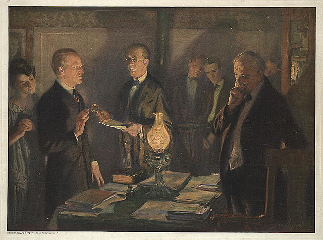 [Calvin Coolidge taking the oath of office]