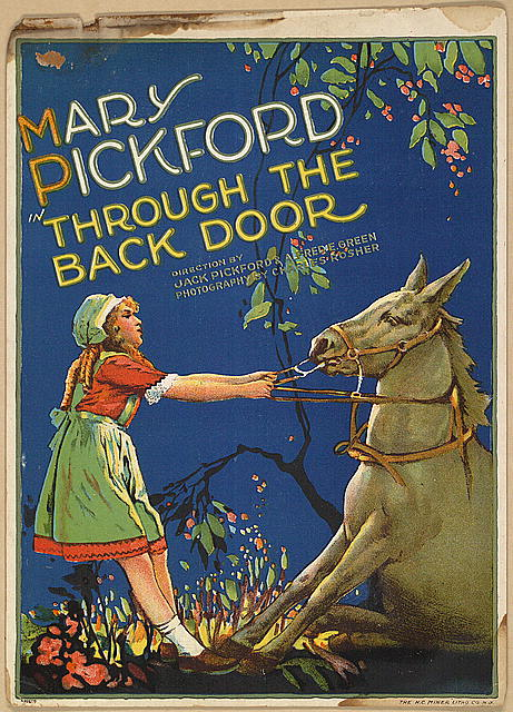 Mary Pickford in Through the back door