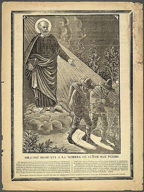 Oración dedicada a la sombra de Señor San Pedro