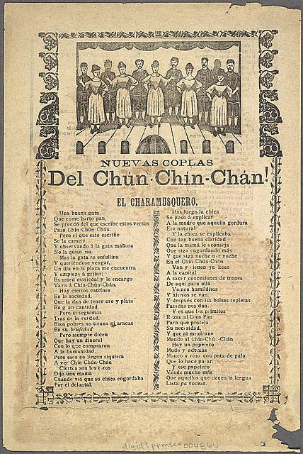 Nuevas coplas del Chún-Chín-Chán! El charamusquero