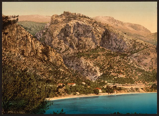 [General view, Èze and St. Jean, Riviera]