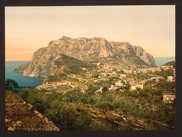 [Mount Solaro, Capri Island, Italy]