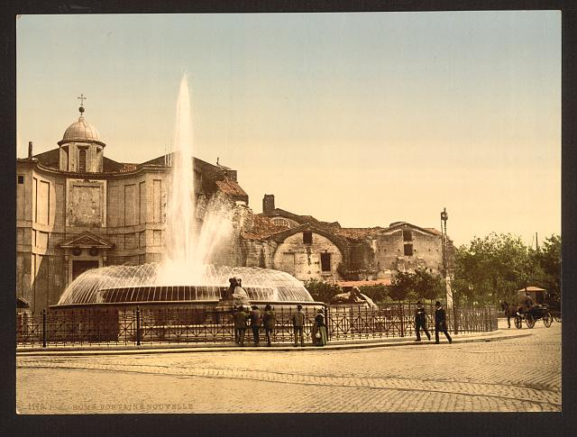[New Fountain and Diocletian's Spring, Rome, Italy]