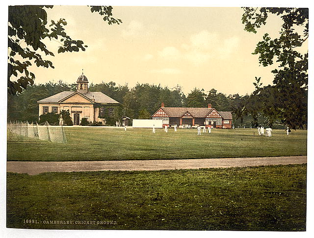 [Royal Military College, cricket grounds, Sandhurst, Camberley, England]