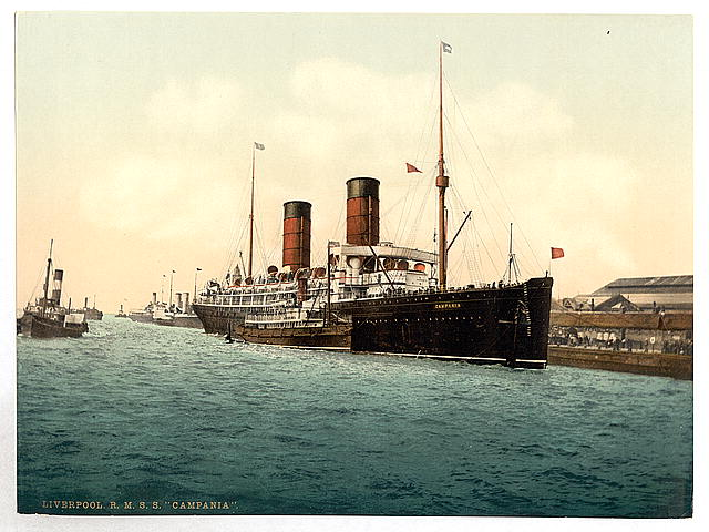 "[R. M. S. ""Campania"" in the Mersey]"