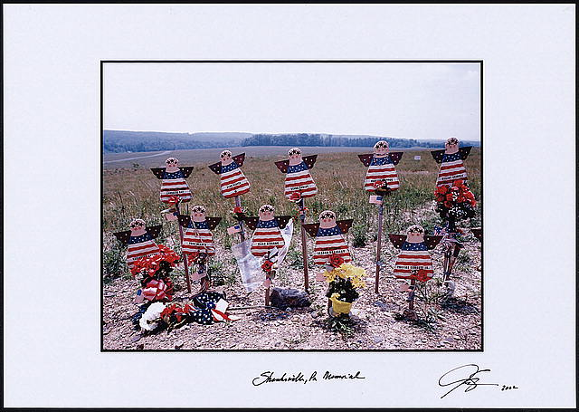 [Angel memorial near the Shanksville, Pa., crash site of United Airlines Flight 93, which was highjacked in the September 11th terrorist attacks]