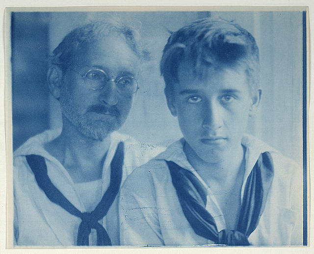 [F.H. Day and Maynard White in sailor suits, portrait]