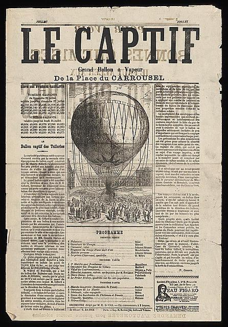 Le captif, grand ballon à vapeur, de la Place du Carrousel