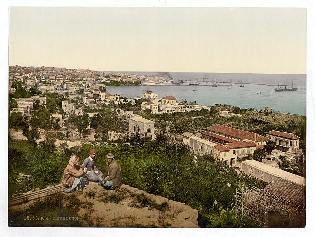 [Town and harbor from St. Dimila, Beyrout, Holy Land, (i.e., Beirut, Lebanon)]