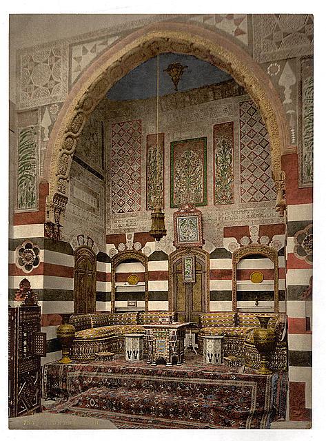 [Interior of a house, Damascus, Holy Land, (i.e. Syria)]