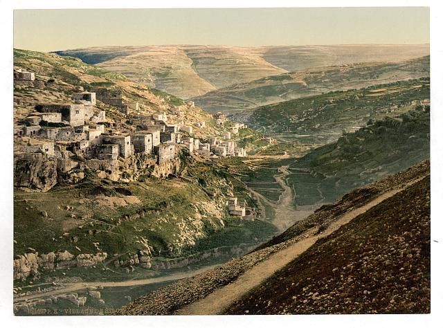 [Village of Siloam, Jerusalem, Holy Land]