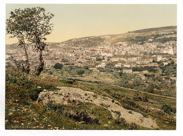 [From the east, Nazareth, Holy Land, (i.e., Israel)]