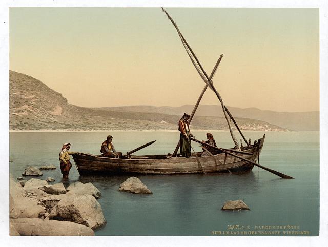 [Fisherman's boat on the lake, Tiberias, Holy Land, (i.e., Israel)]