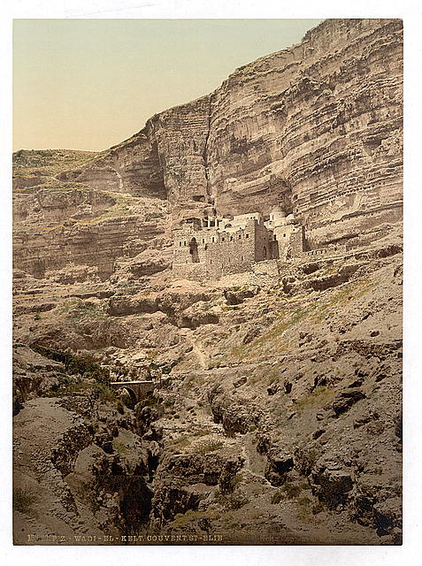 [Convent of Elijah and Brook of Kerith, Wady-el-Keit, Holy Land]