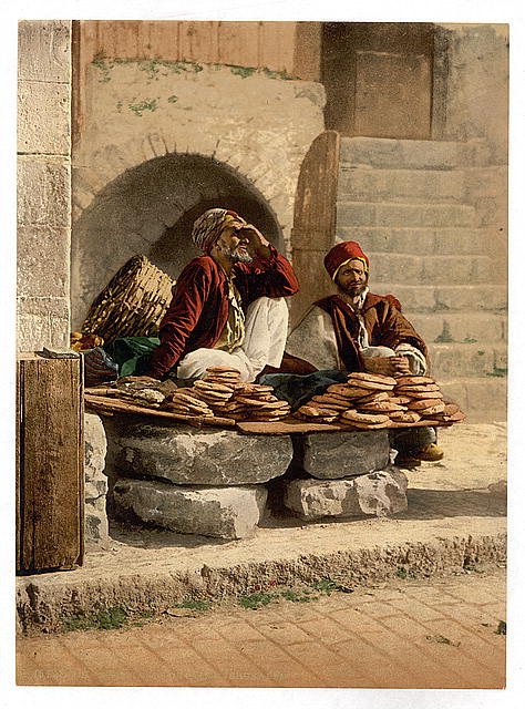 [Bread seller of Jerusalem, Holy Land]