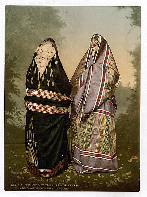 [Mahomedan women in town costume, Holy Land]
