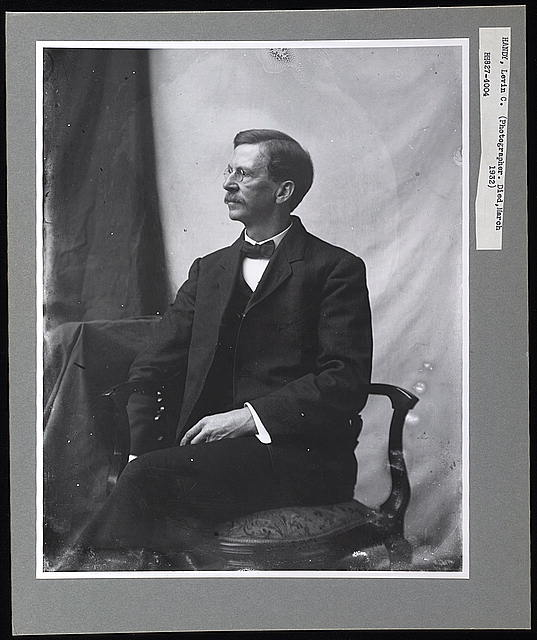 [Levin Handy, three-quarter-length portrait, seated, facing left]