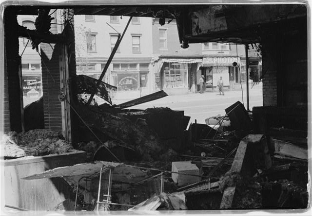 Riot damage in D.C.