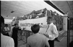 V.P. Johnson in Saigon, Vietnam. Arriving at textile mill and taking inspection tour