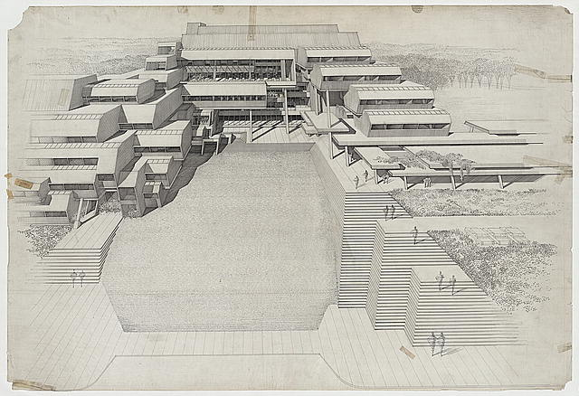 [Burroughs Wellcome Company, Research Triangle Park, North Carolina. Aerial perspective. Rendering]