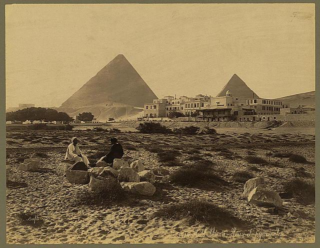 Hotel Mena-House et pyramides