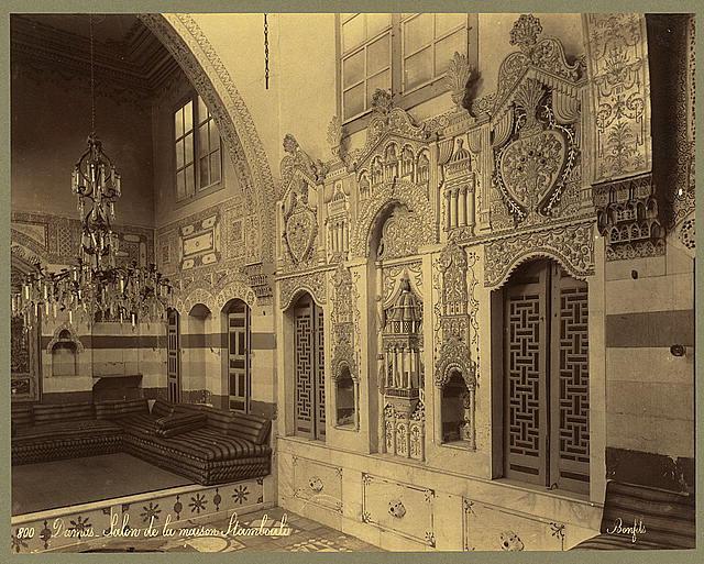 Damas. Salon de la maison Stambouli