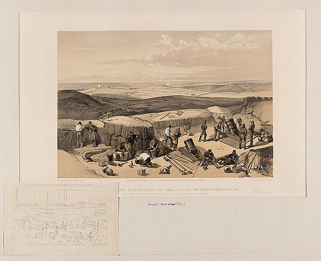 The new works at the siege of Sebastopol on the right attack - from the mortar battery on the right of Gordon's battery