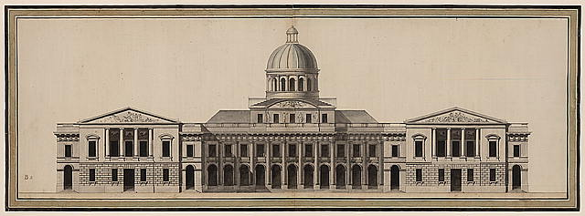 [United States Capitol (Washington, D.C.). East front elevation, architectural sculpture, dome]