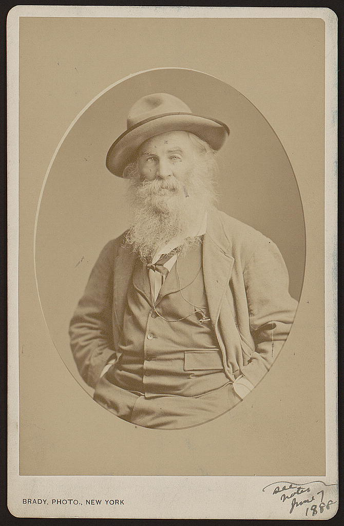 Walt Whitman Photograph Vintage Photo from 1870