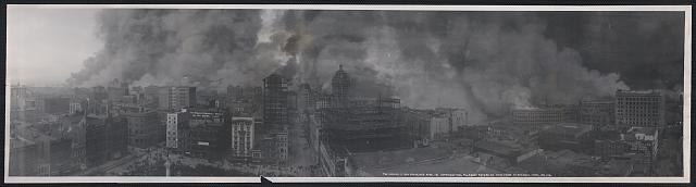 The Burning of San Francisco, April 18, view from St. Francis Hotel