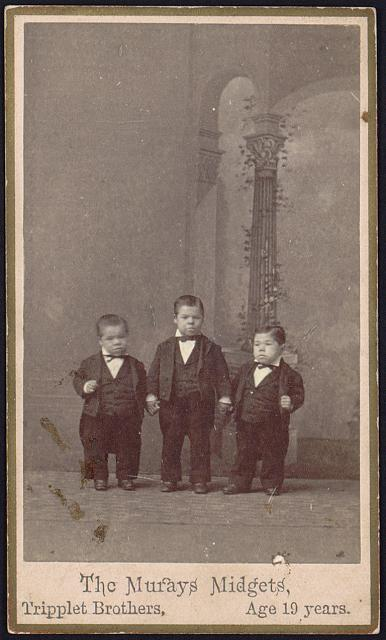 The Murays Midgets, tripplet brothers, age 19 years