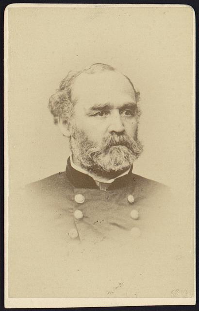 [Montgomery C. Meigs, bust portrait, facing slightly right, wearing military uniform]