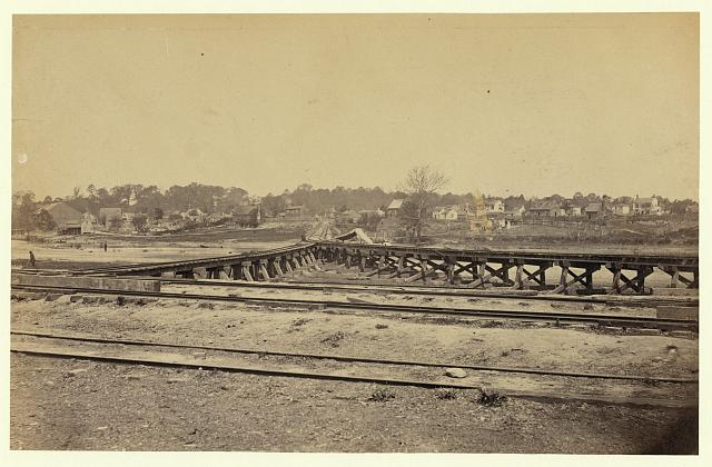 "[View of the ""Y"" on the City Point and Army railroad line]"