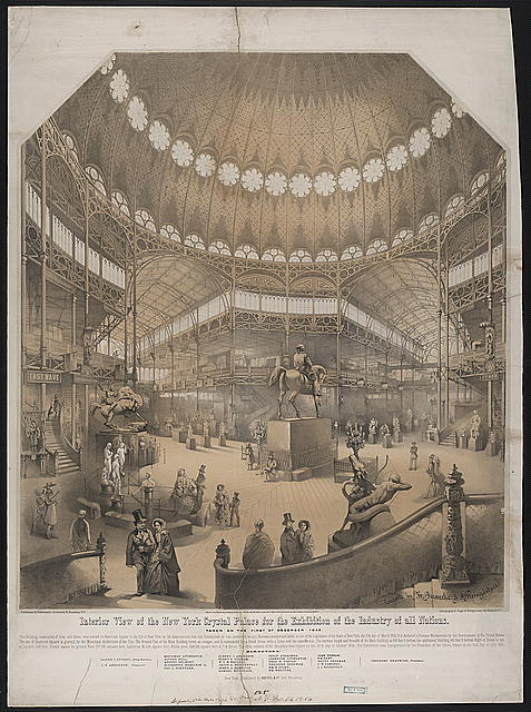 Interior view of the New York Crystal Palace for the exhibition of the industry of all nations