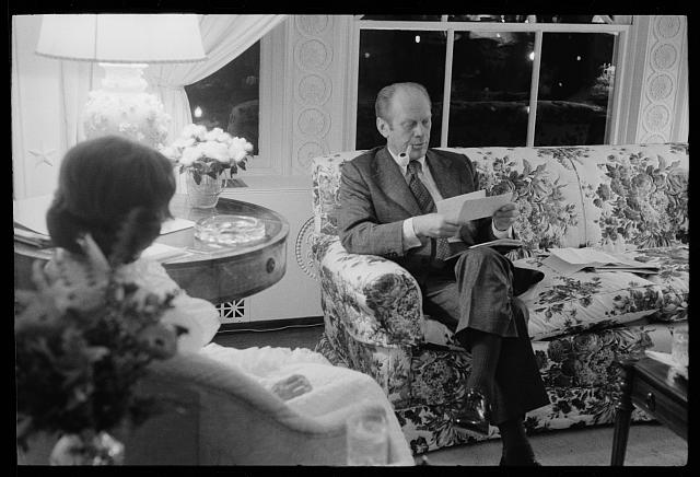 [President Gerald Ford and First Lady Betty Ford in the living quarters of the White House, Washington, D.C.]