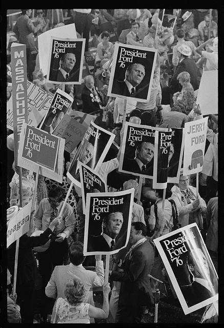 [President Gerald Ford's supporters at the Republican National Convention, Kansas City, Missouri]
