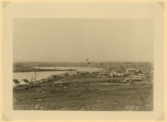 [Victoria Harbor, Vancouver Island, taken from the church hill, 1859 (Copy photograph)]