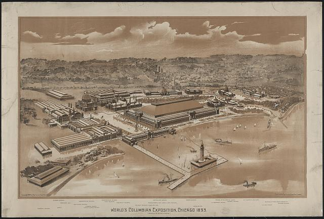 World's Columbian Exposition, Chicago 1893 (Bird's-eye view)