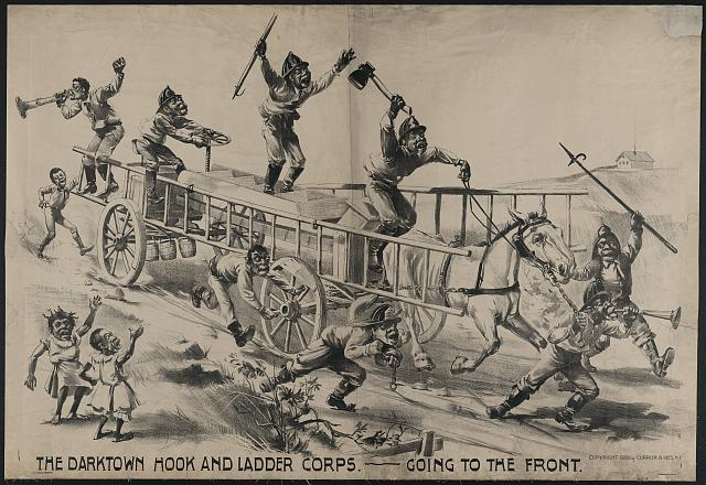 Darktown hook and ladder corps-going to the front