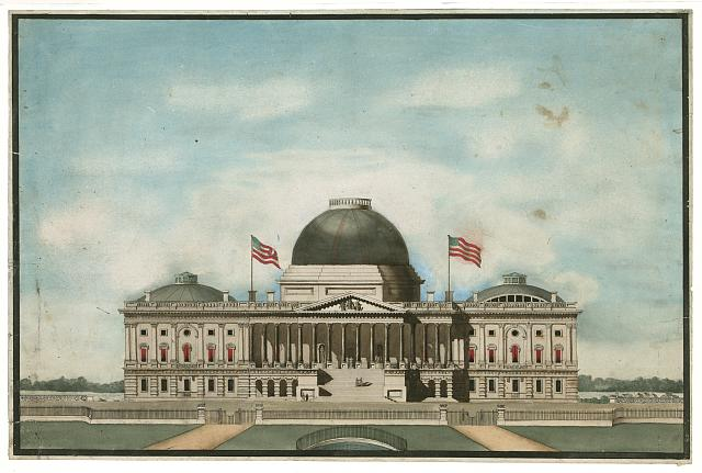 [United States Capitol, Washington, D.C. East front elevation, rendering]