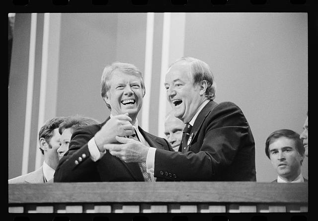 [Jimmy Carter and Sen. Hubert Humphrey at the Democratic National Convention, New York City]