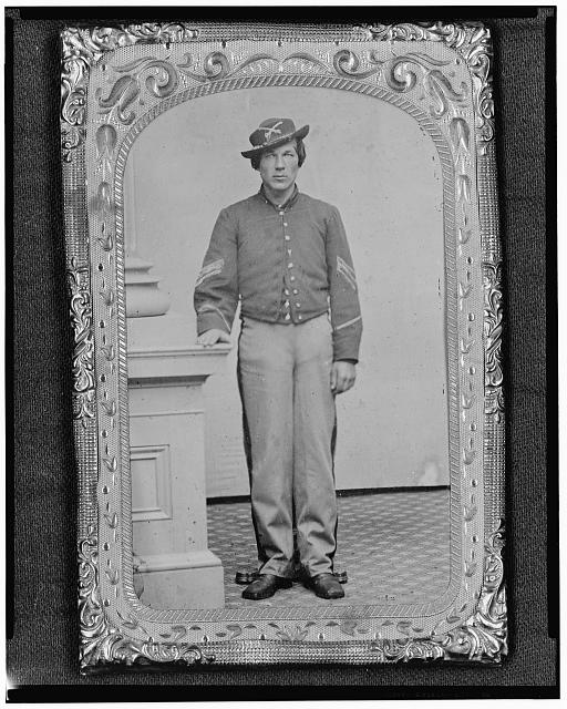 [Josua P. Graffam, Sgt., 1st D.C. & 1st Maine Cavalry, Co. B., U.S.A., full-length portrait, facing front]