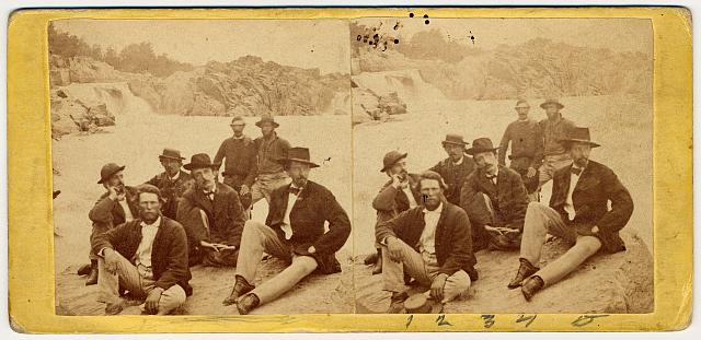 [A group of officials at Great Falls, on the Potomac River, near Washington, D.C.]