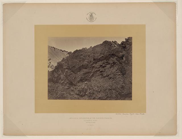Contorted limestone, Wright's Cañon, Nevada