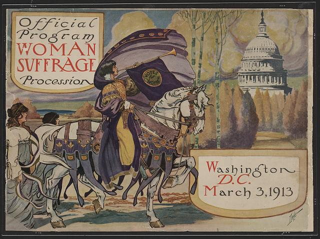 women's procession poster