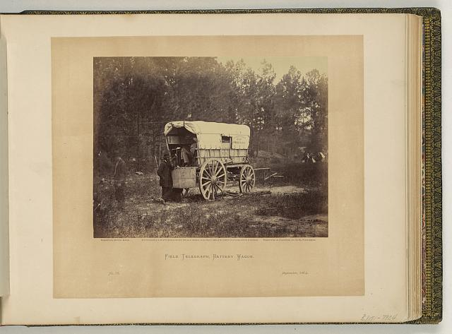 Field telegraph battery wagon